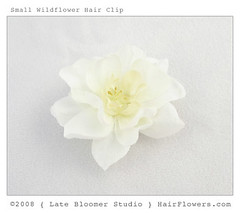 Small_Wild_Flower_Hair_Pin (hairflowers.com) Tags: wedding flower hair cream silk ivory clips magnolia gardenia flowerhairclip flowerforhair bridalflowerhairclip weddingflowerhair gardeniaflowerforhair