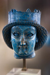 Achaemenid Prince (Ali Majdfar) Tags: blue sculpture iran head azure persia gettyimagesmiddleeast