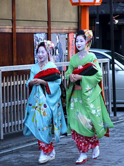 Gion (ericlty) Tags: japan kyoto maiko 京都 祇園 kimono gion yukiko 着物 hanamikoji きもの 舞妓 まいこ mamehana
