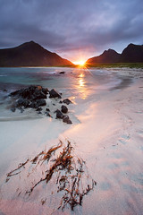 "Lofoten 03 - ""Flakstad"" (Anders Hagen-Nsset) Tags: seascape mountains beach norway sunrise landscape dawn fineart scandinavia whitesand lofoten tare waterscape northerneurope nordland canon1740l flakstad canoneos5d ramberg andersnsset skagenstrand"