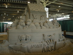 Noah's Ark sandcastle