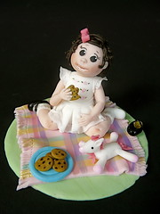A Cake Topper for Sophie! (abbietabbie) Tags: cookies grass picnic child sugar explore birthdaycake figure rug sensational teaparty toyhorse blueribbonwinner bicuits