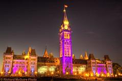 Sound and light - Parliament Buildings, Ottawa, Canada (Richard McGuire) Tags: canada night ottawa parliament hdr soundandlight