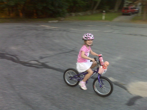 Catherine Loses the Training Wheels