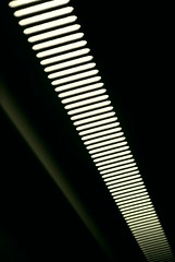 Light inside a train (Vallø) Tags: denmark danmark vallø line linje detail detalje light lys lamp repetition indoor lampe lines linjer