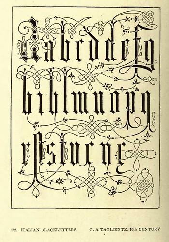 14- Negritas italianas- G Tagliente siglo XVI