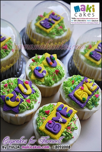 Cupcakes for Farewell_ - Maki Cakes