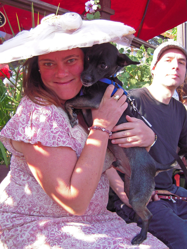 Rocket Dog Rescue Woman and Smokie