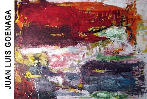 Flyer de la exposición de Juan Luis Goenaga