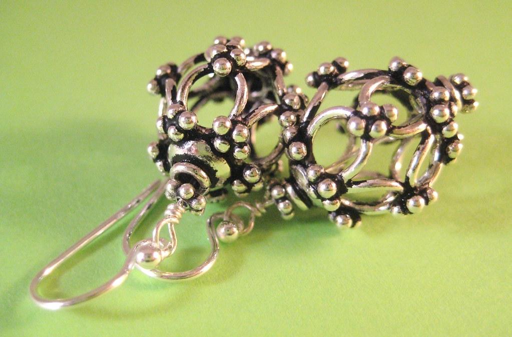 Caged Sterling Earrings