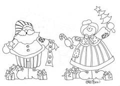 Papai e Mame Noel (Lucia Helena Cesar) Tags: christmas natal snowman felt noel feltro patch papai riscos moldes aplique aplicao