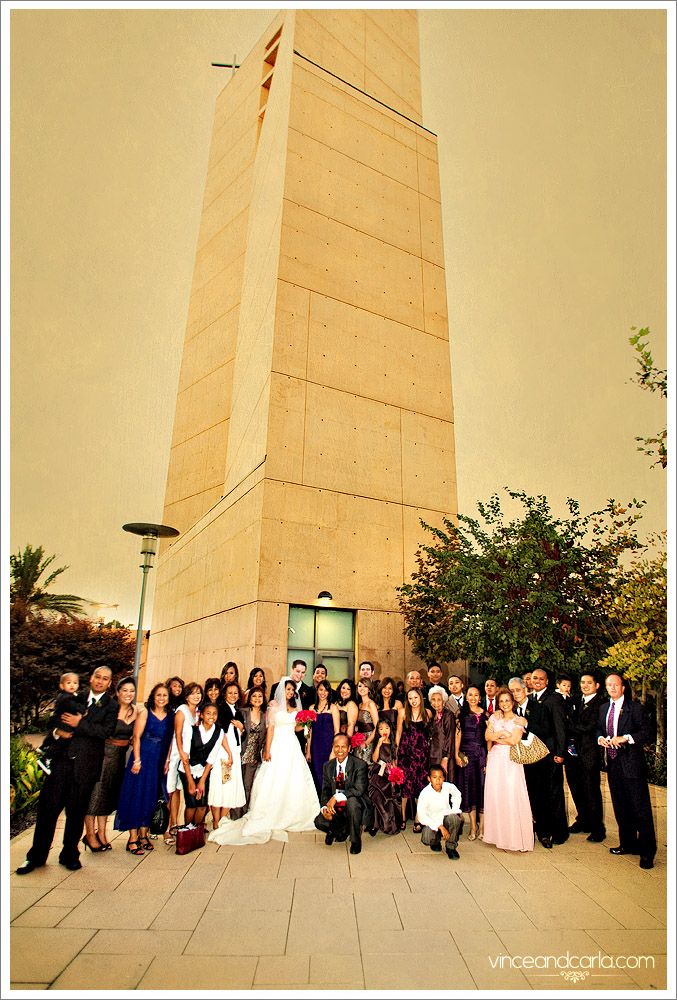 tower cathedral of angels wedding downton LA filipino
