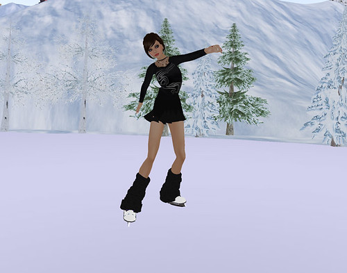 Ice skater - before photoshopping