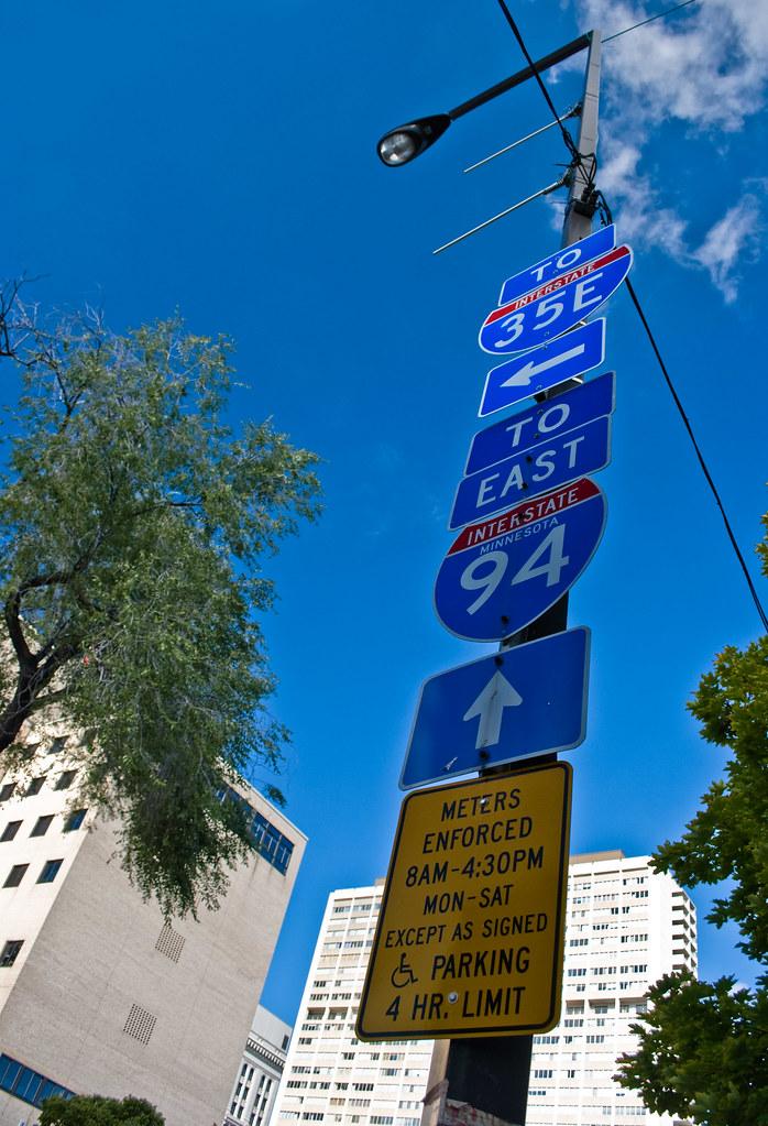 blue sky blue signs