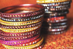 Bokeh Wednesday :) (Madhu Gopalan) Tags: colours thankyou bokeh bangles hyderabadi mirrorwork explored ilovethesebangles metoocheerful 1855bokeh