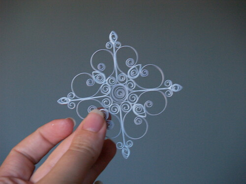 Гофрированный Орнамент Снежинка
