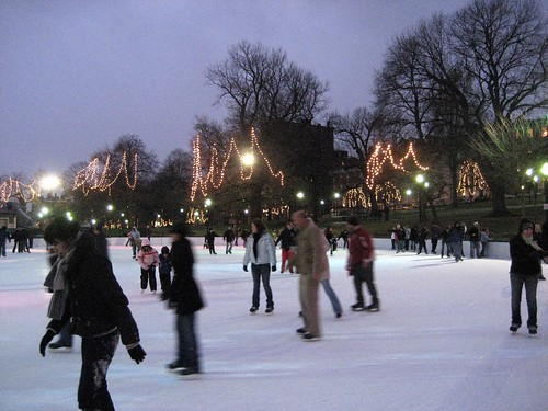 Ice Skating in Boston Common
