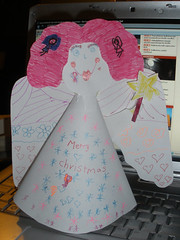 Christmas angel (St.Stello) Tags: angel pinky papercraft