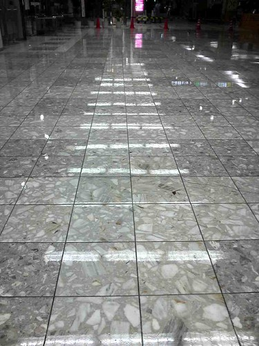 BianCoat applied to tile at Fukuoka Airport after