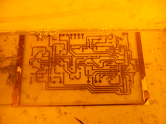 Rinsing off the photoresist