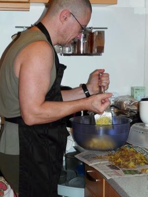 Opi macht Kartoffelkroketten