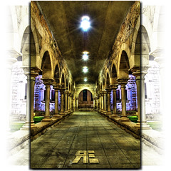 Drawn To The Light (Ryan Eng) Tags: architecture concrete lights symmetry hallway dri hdr saintandrewscathedral nikond90 nikkor18105mm ryaneng ryausting