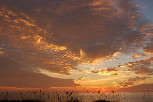 Sunset over gulf coast
