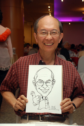 Caricature live sketching for Christ Methodist Church Christmas Celebration - 2