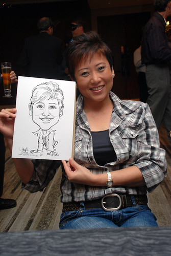 Caricature live sketching for Ezra Holdings 8