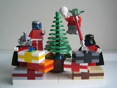 Merry BH Christmas (xwingyoda) Tags: christmas starwars yoda lego vader brickhorizon