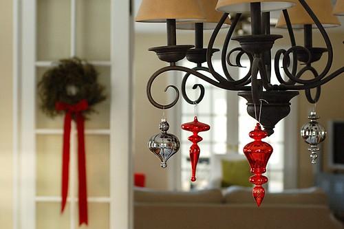 Sparkly chandelier.
