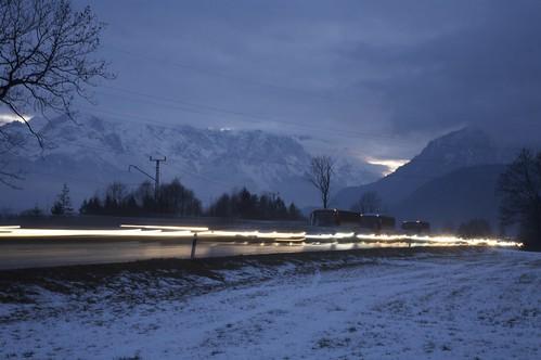 Leuchtendes VEO-Tunnelportal 2009