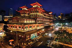 The Grand Buddha Tooth Relic Temple & Museum, Singapore (williamcho) Tags: people building tourism architecture gold singapore asia chinatown buddhist chinese sacred bluehour oriental popular prayers artifacts attraction placeofworship holyplace placeofinterest flickraward buddhatoothrelictemple colorsinourworld pagodadesign