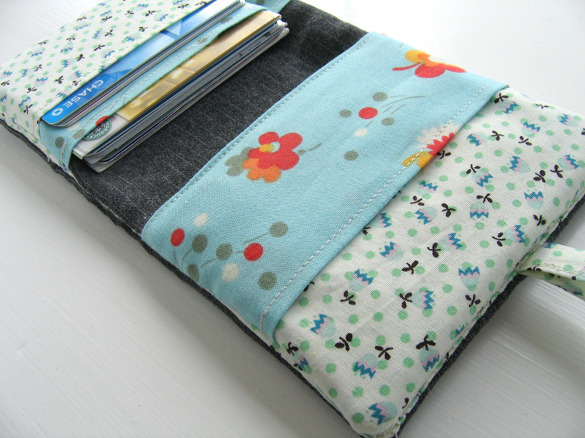 fabric wallet inside