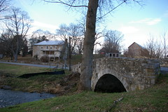 Stone bridge and farmhouse