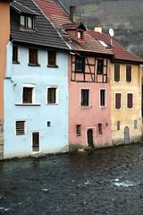 The Thur in Thann (frans16611) Tags: houses river eau couleurs maisons border rivière bord thur thann peintes françoisphilipp
