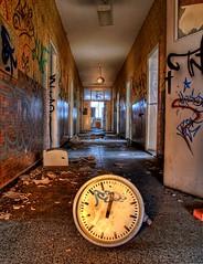Time Tunnel (Batram) Tags: abandoned clock train raw time decay corridor railway tunnel urbanexploration workshop bahn hdr zeit uhr urbex werkstatt reichsbahn lostplace batram trainrepairshop reichsbahnausbesserungswerk veburbexthuringia vanishingextraordinarybuildings
