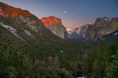 "WS ... Yosemite ""El Capitan-Moon Rise""_.jpg (YOSEMITEDONN) Tags: friends sunset moon snow nationalpark yosemite halfdome elcapitan soe flickrsbest platinumphoto aplusphoto ysplix goldstaraward bridalveilfallsbeautifulgravereflections"