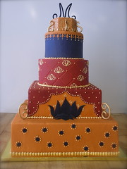 india wedding (Josef's Vienna Bakery) Tags: wedding favorite food india cake square dessert gold lotus marisa monogram weddingcake nevada tahoe bakery bollywood reno bridal sparks sari tier hess fondant handdecorated josefs marisahess