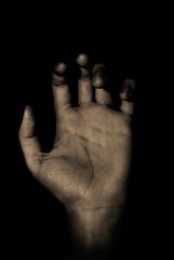 Beware (Thyrfi) Tags: sepia photoshop dark hand nikond60 flickrchallengewinner