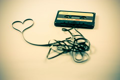 Tape love. (spilmane) Tags: love film heart tape cassette cartridge