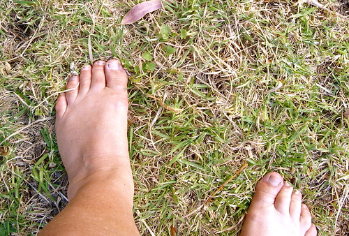Loving the brown feet of summer