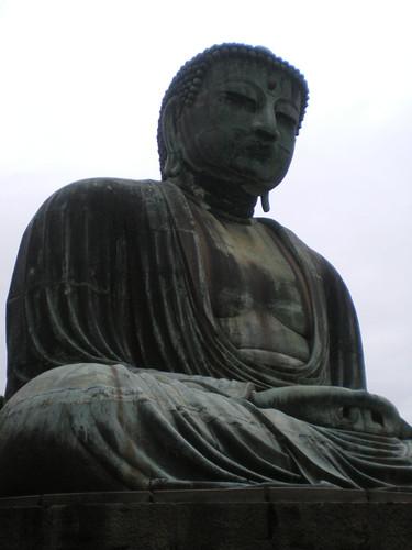 Gran buda de bronce de Kamakura, con sus 14 metros es el segundo más grande de Japón tras el de Nara