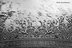 Snowy tiles (Alieh) Tags: blackandwhite bw snow tile frozen persian iran persia mosque dome iranian  esfahan isfahan      pettern sheikhlotfollah aliehs alieh         saadatpour
