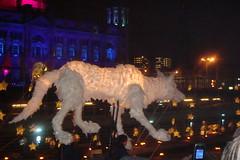 Wolf Lantern Puppet (AlxGrn) Tags: liverpool lantern capitalofculture liverpool2008 capitalofculture2008 mannisland wolfpuppet liverpooltransitionevent illuminatedwolfpuppet