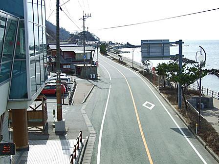 サンセットブリッジより新潟市方面を臨む