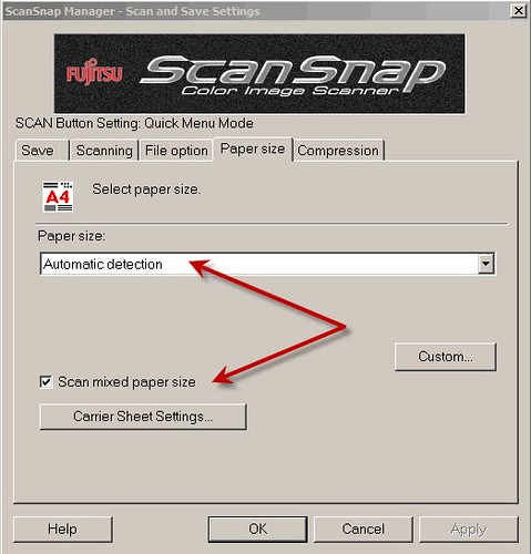 How Do I Scan Various Sized Documents in One Batch with My ScanSnap S510?