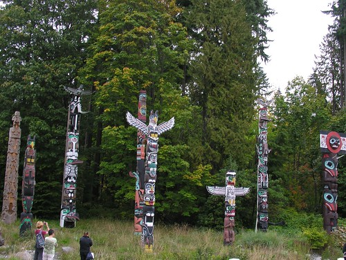 Totem Poles in Stanley Park - signify legends