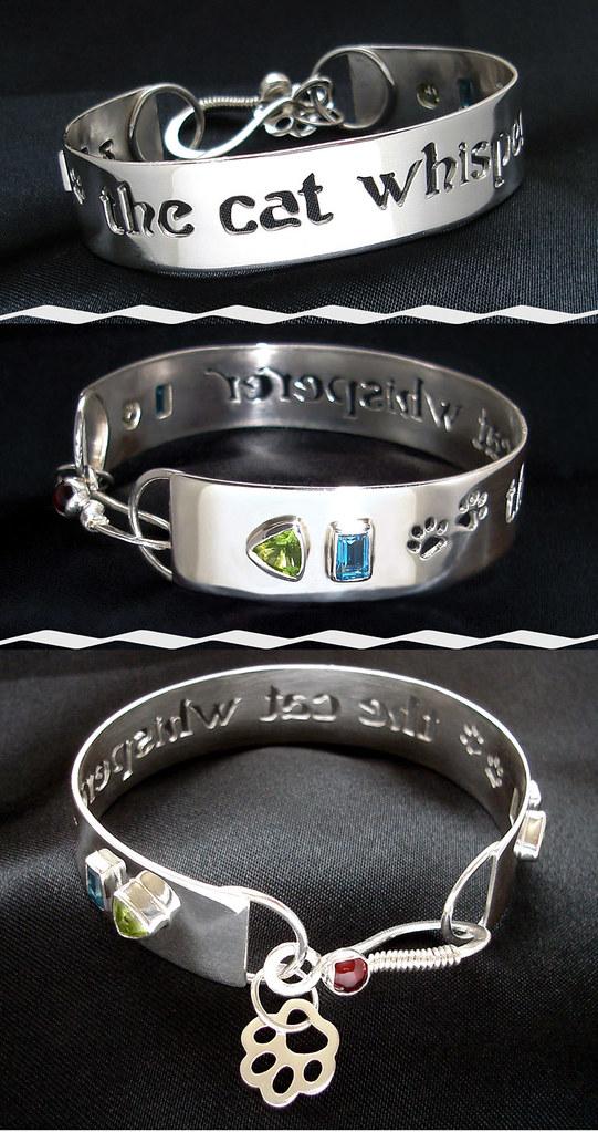 cat whisperer bangle cuff bracelet