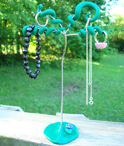 Recycled Fork Jewelry Tree